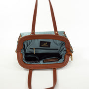 Sky Blue Half Leaf | Scottish Tartan Bags