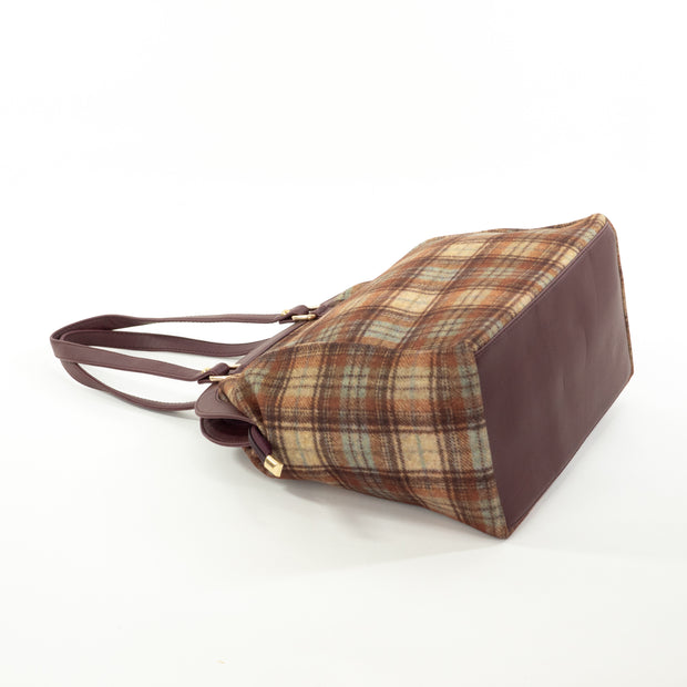 Urban Earth Collection: Chocolate Blue Checks | Scottish Tartan Bags