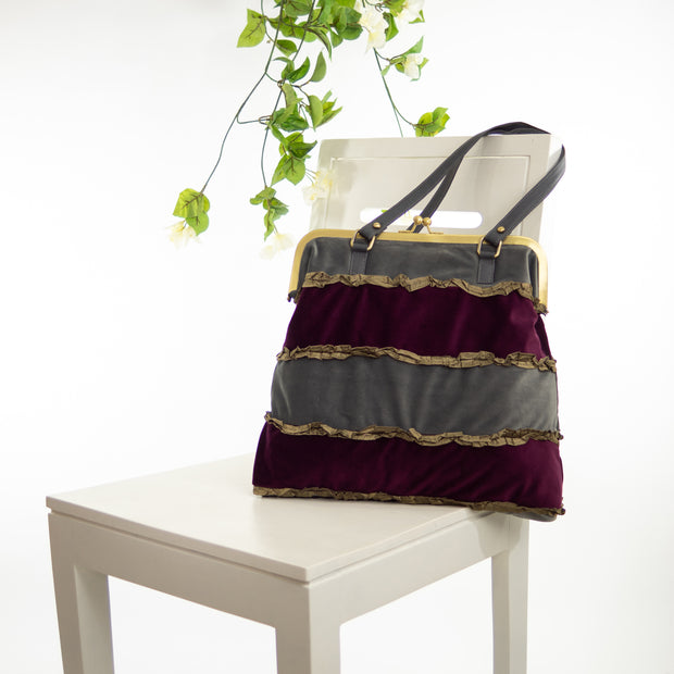 Purple Slate Moon | Boho Frill Bag