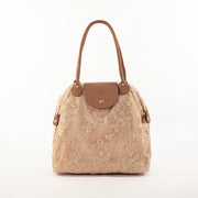 Tan Rose Gold | Lace Bag