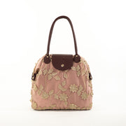 Pink Leaf | Lace Bag
