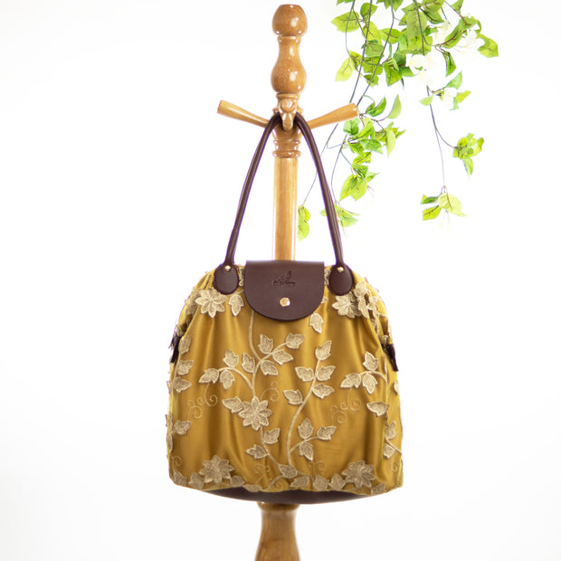 Gold Leaf | Lace Bag
