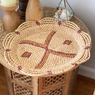 Vintage Scalloped Basket