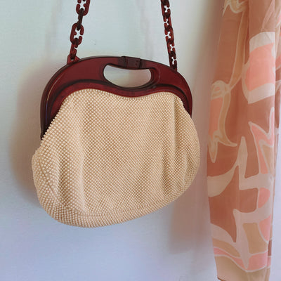 Headed Out Beaded Bakelite Vintage Bag