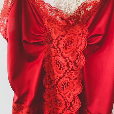Hot Tamale Vintage Red Teddy Camisole
