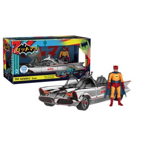 Funko - Batmobile Chrome with Orange Batman