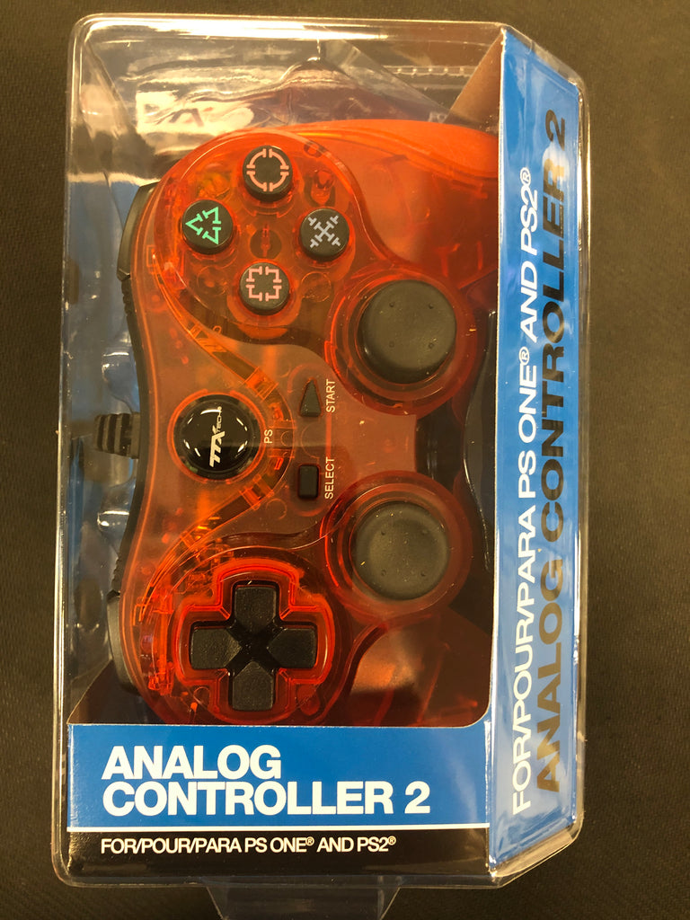 PS2: Red Wired Controller
