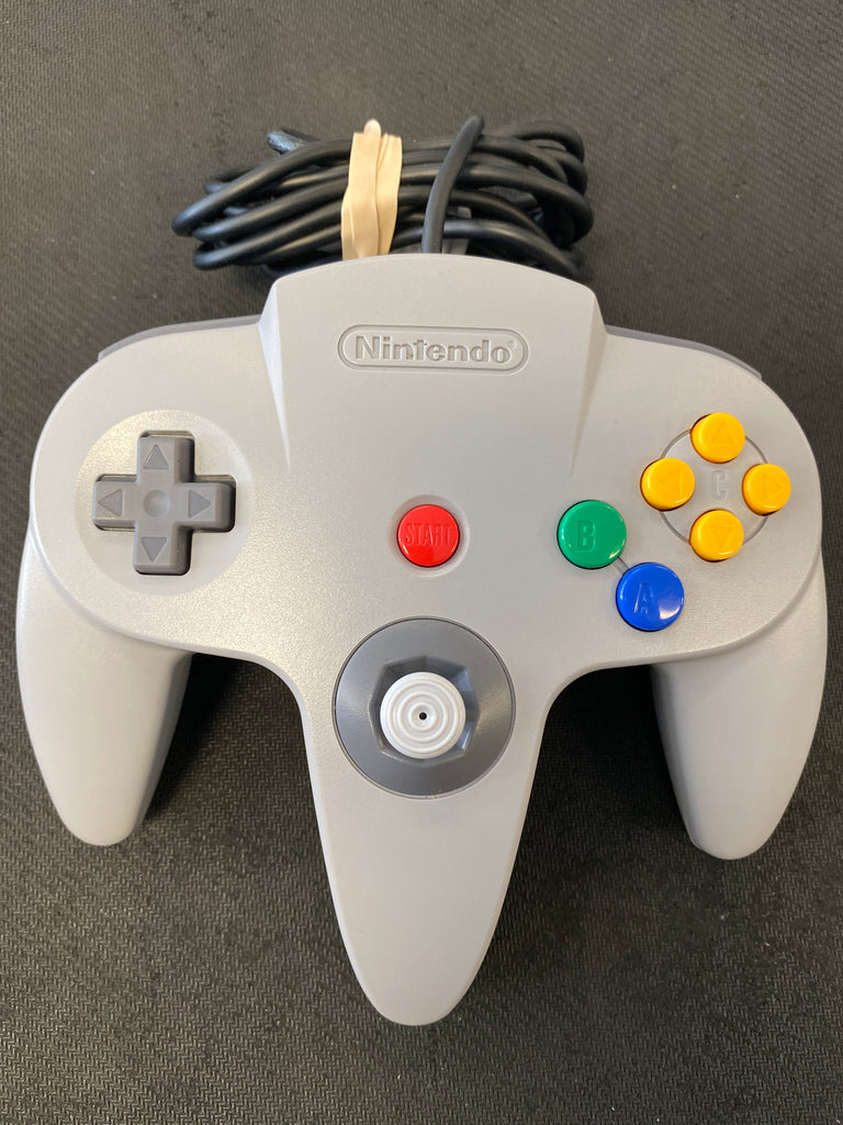 N64: Official Gray N64 Controller (Tight Stick) (All Original)