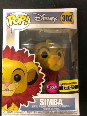 Funko Pop! Simba (Flocked) #302