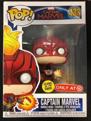 Funko Pop! Captain Marvel (Glow) #433