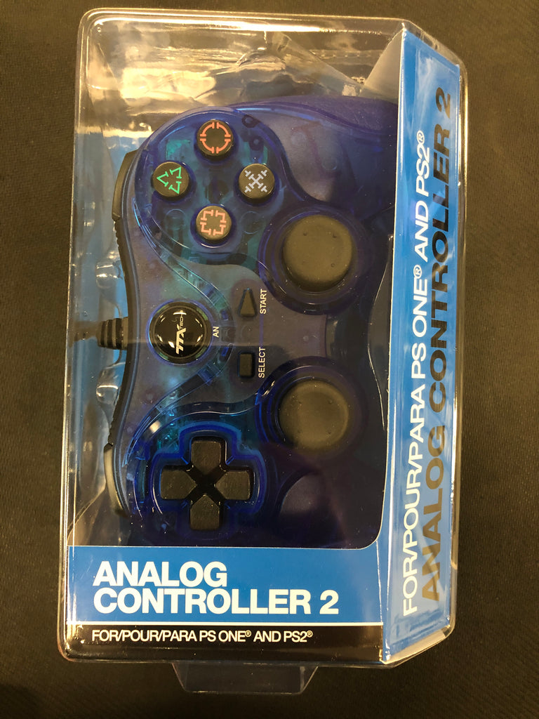PS2: Blue Wired Controller