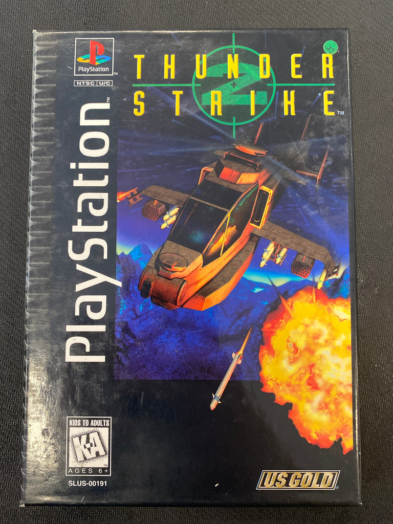 PS1: Thunder Strike 2 (Long Box)
