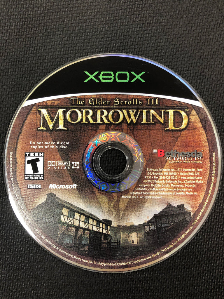 Xbox: The Elder Scrolls III: Morrowind (Disc Only)