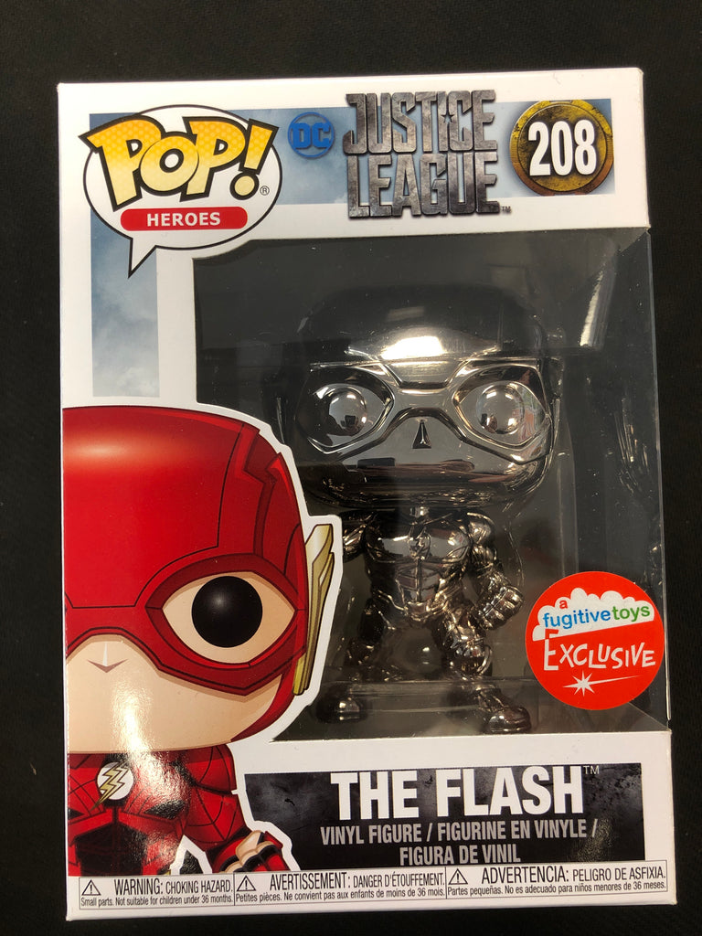Funko Pop! The Flash (Black Chrome) #208