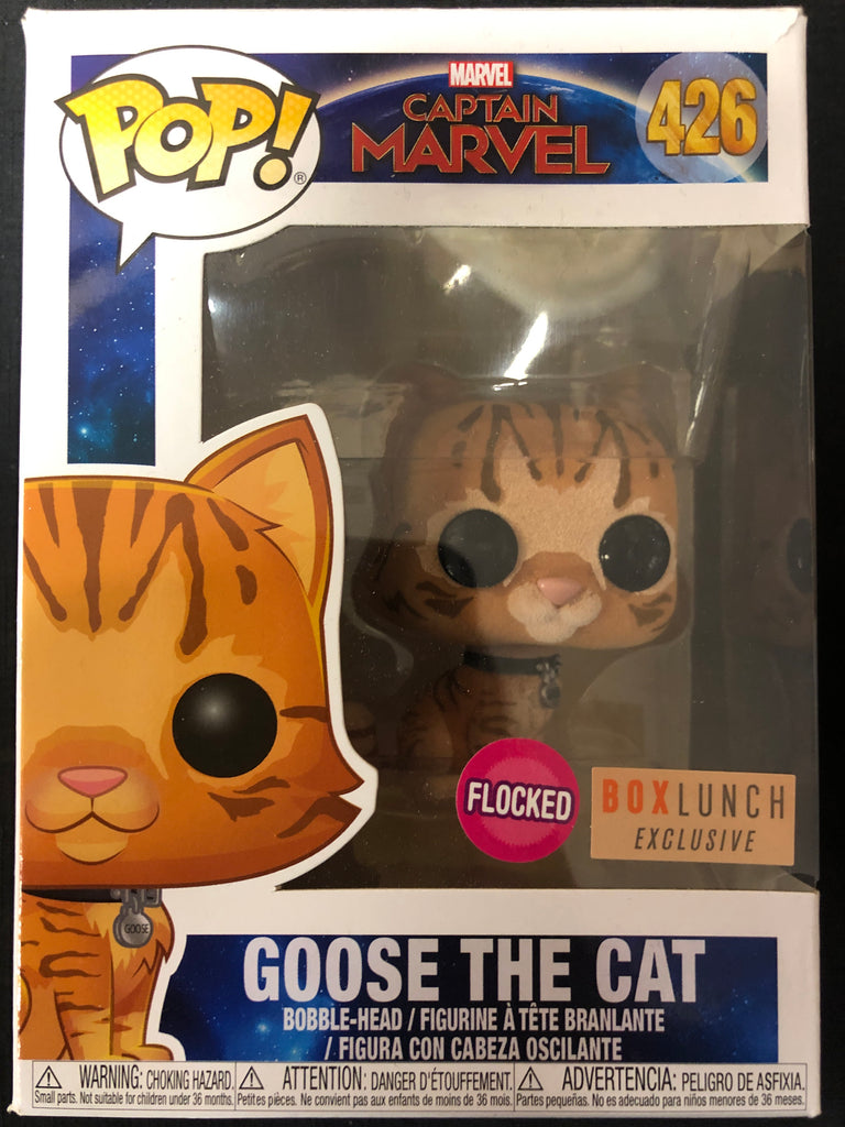 Funko Pop! Captain Marvel: Goose the Cat (Flocked) #426