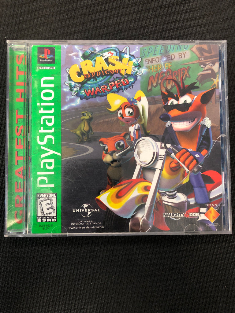 PS1: Crash Bandicoot: Warped (Greatest Hits)