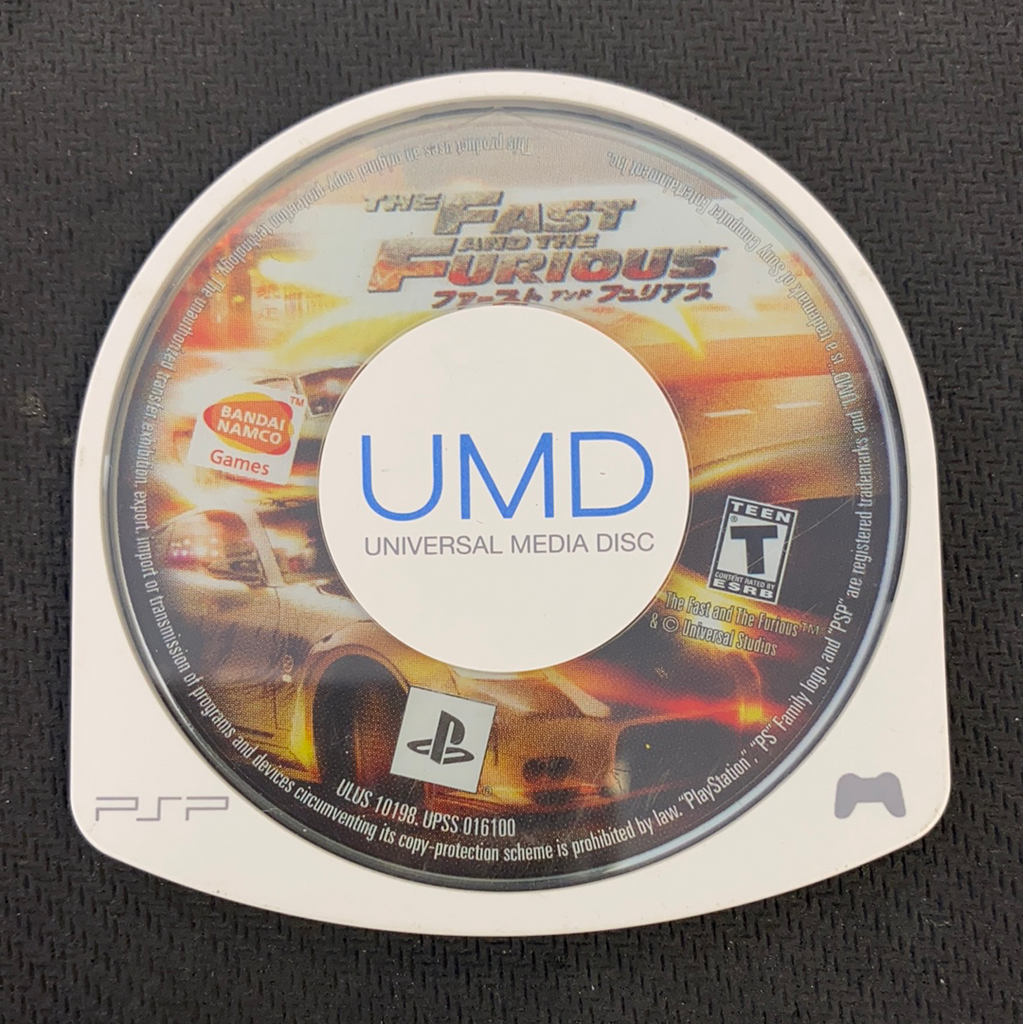 PSP: The Fast and the Furious (Disc Only)