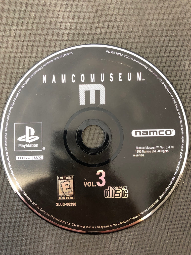 PS1: Namco Museum Vol.3 (Disc Only)