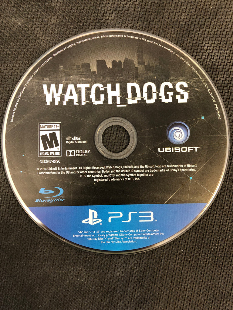 PS3: Watch Dogs (Disc Only)