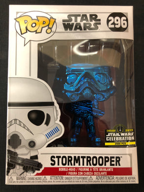 Funko Pop! Star Wars: Stormtrooper (Blue Chrome) #296