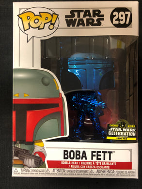 Funko Pop! Star Wars: Boba Fett (Blue Chrome) #297