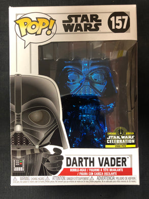 Funko Pop! Star Wars: Darth Vader (Blue Chrome) #157