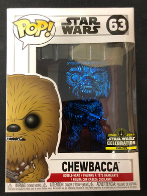 Funko Pop! Star Wars: Chewbacca (Blue Chrome) #63