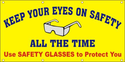 A171 Keep Your Eyes on Safety, Use Safety Glasses to Protect You