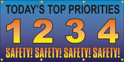 A247 Today's Top Priorities 1. Safety, 2. Safety, 3. Safety