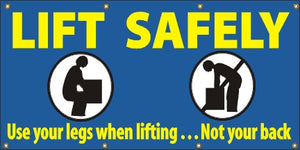 A27 Lift Safely, Use Your Legs, Not Your Back
