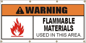 A306 Warning - Flammable Materials