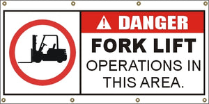 A314 Danger - Fork Lift Area