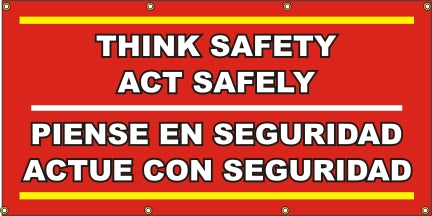 A591 Think Safety / Act Safely - Spanish