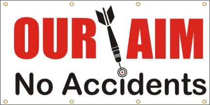 A82 Our Aim No Accidents (white background)