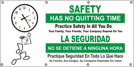 A555 Safety Has No Quitting Time (Spanish)