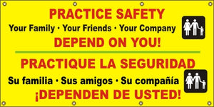 A528 Practice Safety, We Depend on You (Spanish)