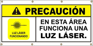 A574 Caution - Laser Light (Spanish)