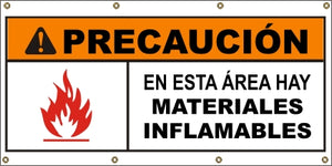 A579 Warning - Flammable Materials (Spanish)