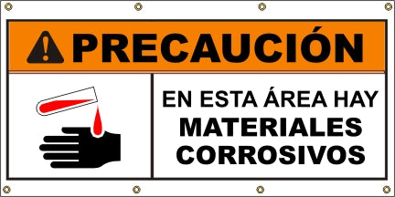 A581 Warning - Corrosive Materials (Spanish)