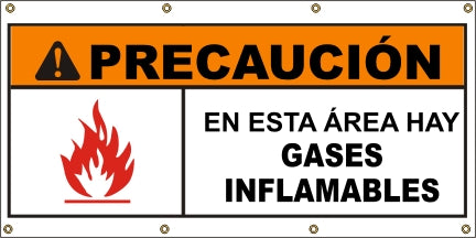 A582 Warning - Flammable Gases (Spanish)