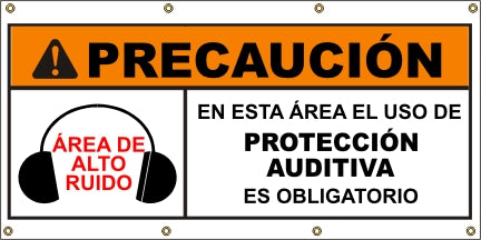 A583 Warning - Ear Protection Required (Spanish)