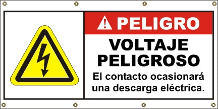 A569  Danger - Hazardous Voltage (Spanish)