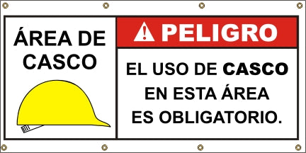 A570 Danger - Hard Hat Required (Spanish)