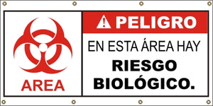 A572  Danger Biohazard Area (Spanish)