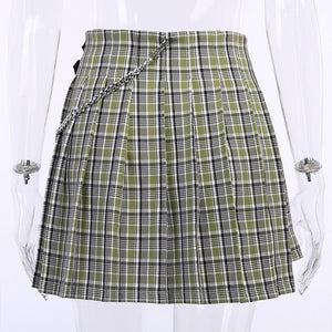 """GREEN PLAID"" SKIRT"