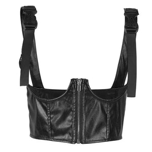 """DARE"" LEATHER CHEST HARNESS"