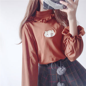 """FRILL"" EMBROIDERED SHIRT"