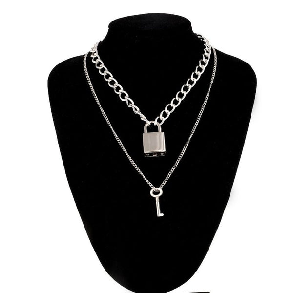 """DOUBLE LOCK"" NECKLACE"