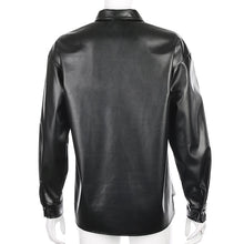 """LEATHER"" BLOUSE"