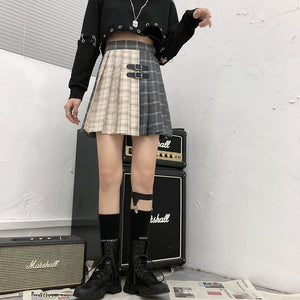 """TWO TONE"" PLEATED SKIRT"